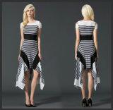 High Quality Ladies Sleeveless Chiffon Printing Casual Dress