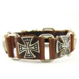 OEM High Quality Men Metal Bracelet with Glitter Cross
