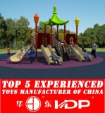 Outdoor Children Playground Plastic Slide Toys Equipment Used (HD15A-040A)