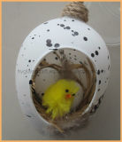 Hanging Glass Egg/Easter Ornaments with Chicken Inside