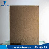 3-6mm Figured Glass/Bronze Nashiji Patterned Glass with Ce&ISO9001