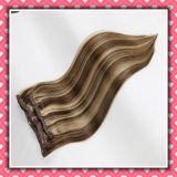Piano Color Non-Remy Human Hair Clip-in Hair Silky 18inches