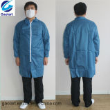 Disposable Spunbond Blue SMS Nonwoven Protective Coverall/Jacket