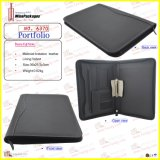 PU Leather Zippered Portfolio (6370)