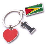 New Custom Metal Souvenir Guyana Keyring