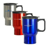 Stainless Steel Travel Mug Auto Mug with Plastic Handle and Lid