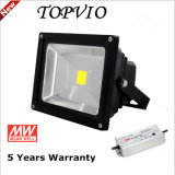 AC100-277V MW Driver 50W Bridgelux Chip Classic Outdoor LED Floodlight