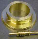 Brass Precise Telescope Worm Gear and Worm Shaft, Worm Wheel Shaft