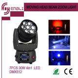 7PCS 10W LED Zoom Beam Moving Head Stage Light (HL-009BM)
