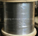 Grade #304 Not Magnetic Stainless Steel Wire Rope-6x19+PP Dia. 4.5mm