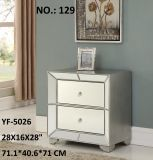 Night Stand Accent Cabinet Mirrored Furniture
