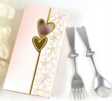 Stainless Steel Cutlery Set with Gift Box and Elegant Design