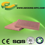 Solid Composite Decking with Brown Color