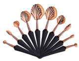 Factory Source Patented Man-Made Synthetic Hair Sea Shell Makeup Brush Set
