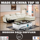 Australia Most Popular Leather Living Room Sofa with L Shape