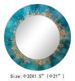 Water Washed Blue Handmade Gold Foil Home Decoratived Mirror