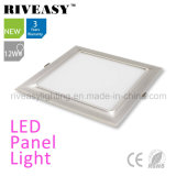 Electroplated Aluminum 12W Silver LED Panel Light