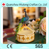 Hot Sale Beautiful Peacock Figurine Portable Animal Ashtray