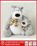 White Painted Plush Mohair Teddy Bear with Moveable Arm