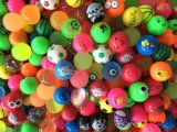 27, 32 45, 49mm Colorful Foam Logo Printed Toy Silicone Rubber Bouncy Ball