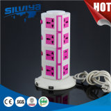 4 Layers Multi Vertical Socket with USB 2100mA