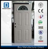 Fangda PVC Coated Filmed Fanlite Glass Steel Door