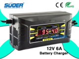 Suoer 12V 6A LCD Display Smart Fast Battery Charger (SON-1206D)