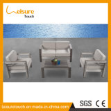 All Weather Modern Garden Dining Sofa with T15 Cushion Outdoor Patio Garden Furniture Frame in Anodized Aluminum Sofa Set