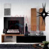 Modern Style Wooden TV Stand with Hanging Cabinet