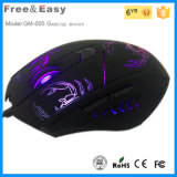 Factory Supplier Design High Quality Glare LED Light 6D Gaming Mouse Mice