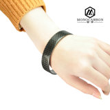Eco-Friendly Carbon Fiber Infinity Bracelet for Nomination Bracelet Femme