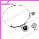 Stainless Steel Bangles with Charms/Tag Pulseras Mujer Bijoux
