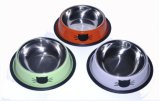 Stainless Steel Pet Bowl with Elegant Design