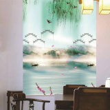 Printing Fabric Roller Blinds Semi-Blackout Manual Chain Control