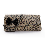 Ladies Leopard PU Leather Crossbody Bag Fashion Shoulder Evening Bag