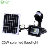 20W Solar LED Flood Light Lamp with PIR Motion Sensor