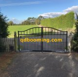 Aluminum Arch Black Stain Powder Coated Gate
