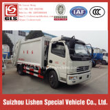 Garbage Compressor Manual Transmission New Condition Dongfeng 4*2 Compression Garbage Truck