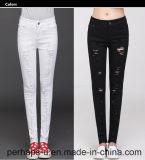 High Quality Fashion Ripped Ladies Denim Long Jeans Slim Leg