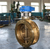 C95200 Double Flange Eccentric Butterfly Valve with Ce ISO Wras Approved