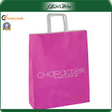 Paper Handle Logo Printed Clothes Kraft Paper Bag