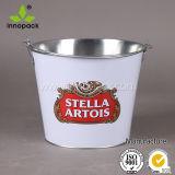 5 Qt Galvanized Metal Beer Bucket Beer Barrel with Metal Handle