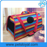 Manufacturer Puppy Cat Travel Portable Bag Leather Pet Carrier