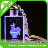 Exquisite 3D Laser Crystal Keychain with Glass (SLF-OK007)
