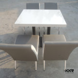 Solid Surface Resin Stone Furniture Square Dining Table for Restaurant