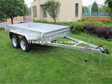 Hot Dipped Galvanized Braked Tandem Trailer