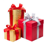 Handmade Paper Gift Boxes with Ribbon for Christmas Day