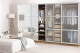 Tempered High Gloss Glass Frosted Wardrobe Closet Home Furniture