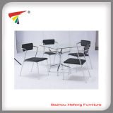2015 Fashion Glass Dining Table with Chairs (DT179)