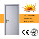 Popular Model Solid Teak Wood Timber Door (SC-W107)